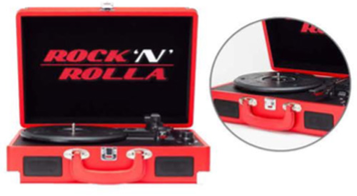 Rock 'N' Rolla Junior Portable Briefcase Vinyl Turntable