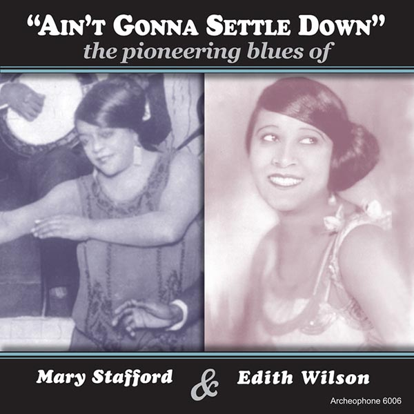 Ain't Gonna Settle Down: The Pioneering Blues Of Mary Stafford & Edith  Wilson (2 CD)