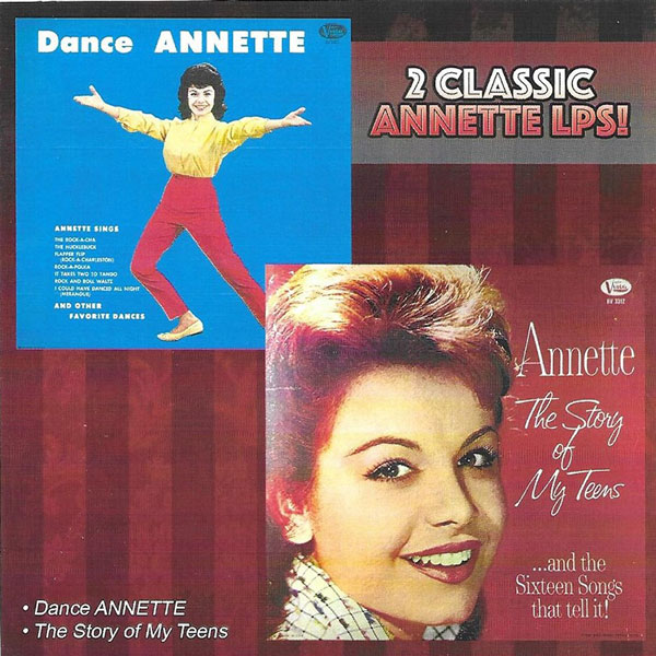 2 Classic Annette LPs! Dance ANNETTE / The Story Of My Teens