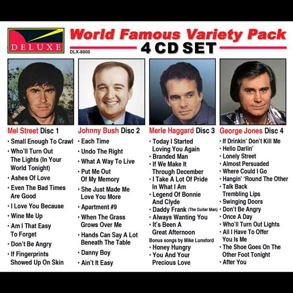 World Famous Variety Pack (4 CD Set)