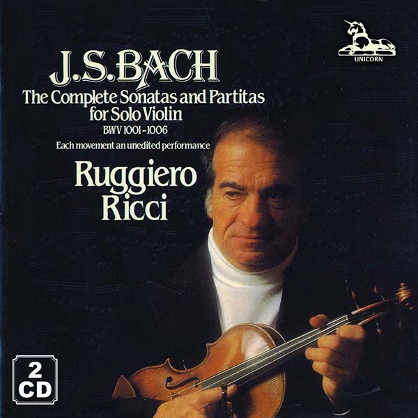 Js Bach The Complete Sonatas And Partitas For Solo Violin 2 Cd