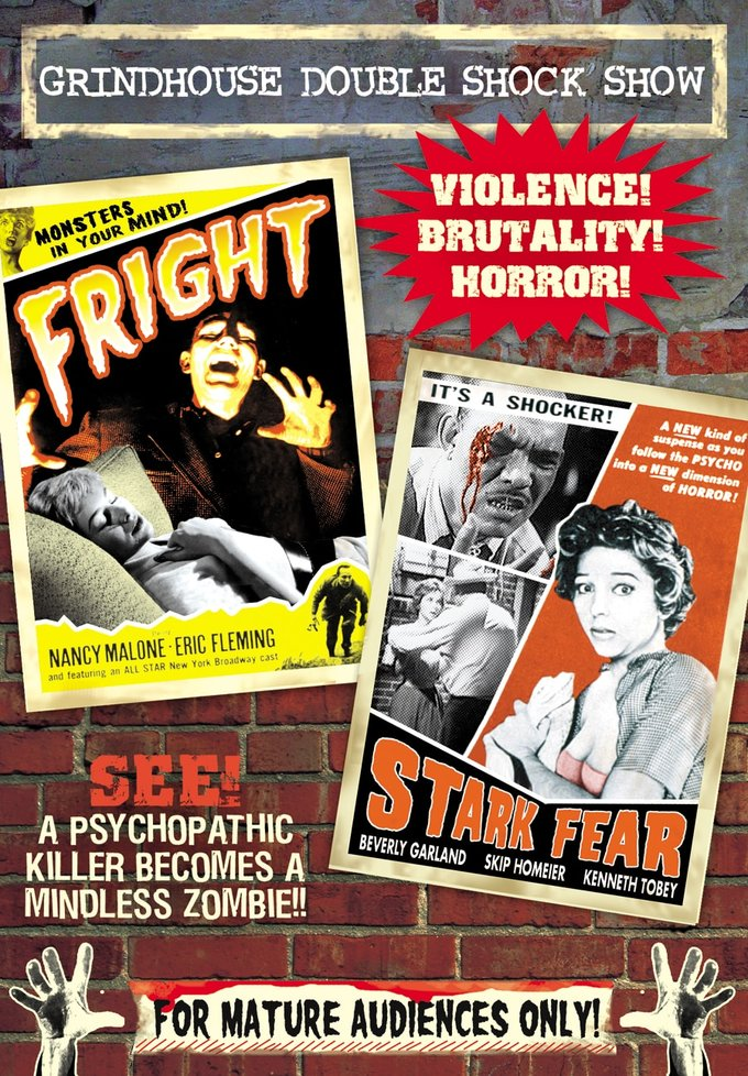 Grindhouse Double Shock Show: Fright / Stark Fear (DVD)