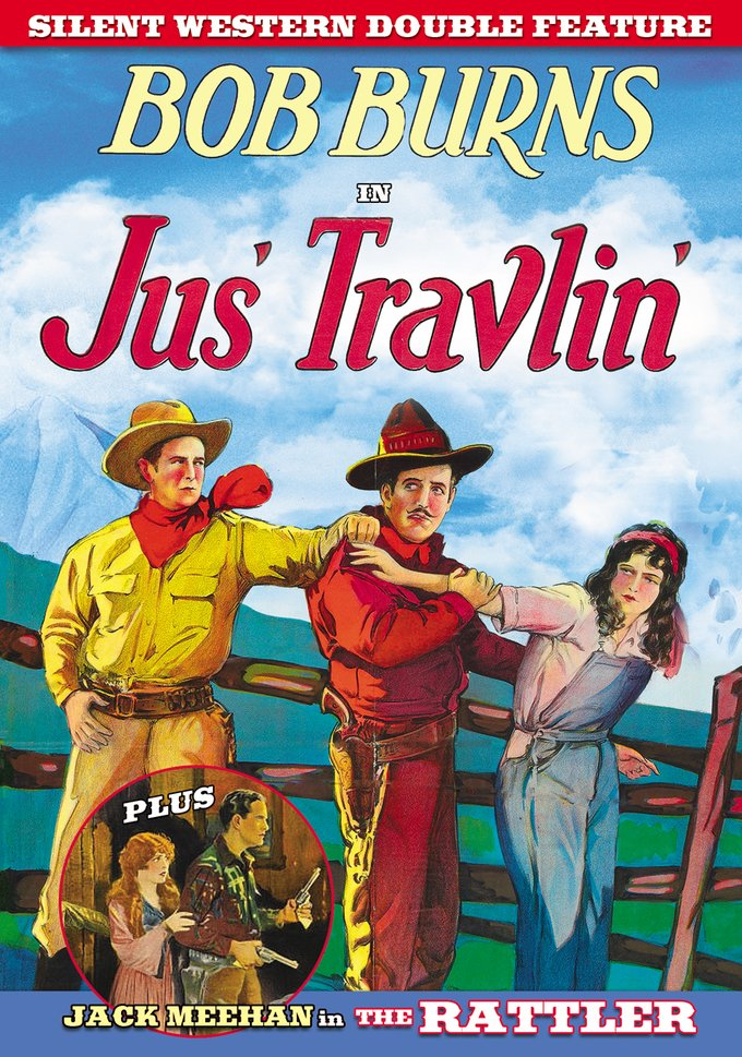 Silent Western Double Feature: Jus' Travlin' / The Rattler (DVD)