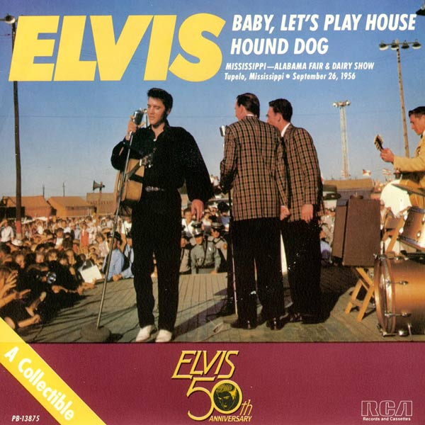 Baby, Let's Play House / Hound Dog (7 Inch Gold Vinyl